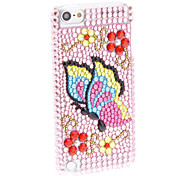 Colorful Case motif papillon en strass brillant dur avec pour iTouch 5
