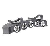 Black Plastic 5 LED Cap Light for Night Fishing/Hiking/Camping/Hunting/Cycling