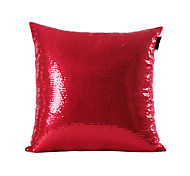 Red Sequins Design Decorative Pillow Cover