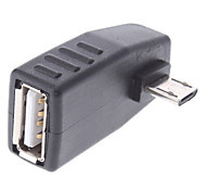 USB Female to Micro USB Male OTG Adapter for Samsung Cellphones and Others
