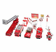 Fire Engine 1:87 Car Helicopter Blocks Sets Toys Pack (Random Color)