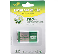 Delipow 9V 300 mAh NI-MH Rechargeable Battery