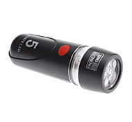 Black ABS+Rubber Waterproof/5 LED/3 Flashing Mode Bicycle Head Light with 4 AAA Batteries