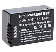 Digital Video Battery Replace Panasonic BMB9E for PANASONIC DMC-FZ45 and More (7.2v, 895 mAh)