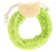 Dog Pet Toys Chew Toy / Teeth Cleaning Toy Loofahs & Sponges / Cartoon Green / Yellow / Rose Textile