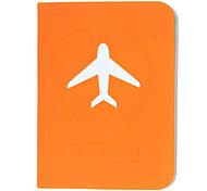 Plano simples caso de passaporte Padrão para Viagem (cor aleatória)