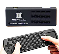 MK808B dual-core Android 4.1 dual-core mini pc Google tv-speler met Bluetooth/HDMI/1GB RAM/8GB ROM/TF + Air Mouse toetsenbord