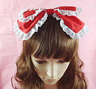 Handmade White Lace Cotton 25cm Sweet Lolita Headband (4 Farben)