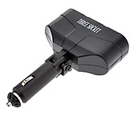 Auto Vehicle Power Cigarette Lighter Three Socket Car Splitter