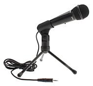 3,5 milímetros microfone estilo clássico com suporte