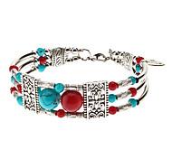 Estilo Abalorios gente de color Totem Patrón Silver Plating Bracelace (colores surtidos)