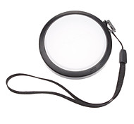 MENNON 58mm Camera White Balance Lens Cap Cover with Hand Strap (Black & White)