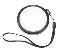 Mennon 58mm Caméra Balance des blancs Lens Cover Cap avec Dragonne (noir et blanc)