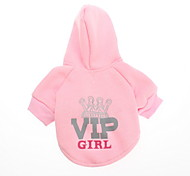 Vip Girl Style Fleeces Hoodies for Dogs(Pink,XS-L)