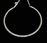 Thin Single Row High-Grade Crystal Necklace