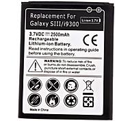Di ricambio agli ioni di litio per Samsung Galaxy S3 i9300 (3.7V, 2500mAh)