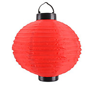 Solar Powered Chinese Lantern Style Red Light LED Lamp