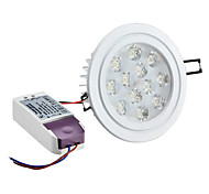 12 W 12 High Power LED 1080 LM Natural White Recessed Retrofit Dimmable Recessed Lights/Ceiling Lights AC 220-240 V
