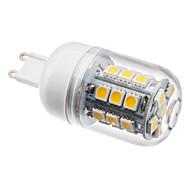 Foco Tipo Maíz LED de Luz Blanca Tibia de 2800-3200K de 300lm de 3.5W 27x5050 SMD de G9 y 230V