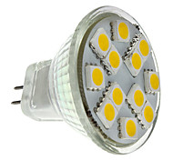 1.5W GU4(MR11) Spot LED MR11 12 SMD 5050 160 lm Blanc Chaud DC 12 V