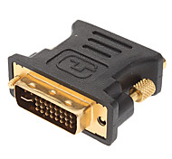 Gold Plated DVI 24+5 Male to VGA Female Adapter