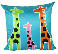 Giraffen-Familie Polyester Dekorative Kissenbezug