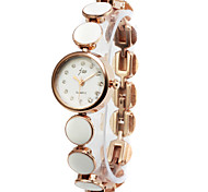Elegant Alloy Round Glass Quartz Women's Watch