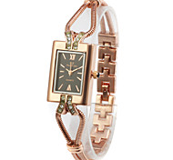Lovely Alloy Rectangle Glass Quartz Women's Watch