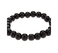 8 mm Round Black Agate Bracelet