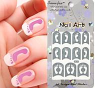 3PCS Mixed-style Paper Nail Art Image Stamp Stickers LK Series No.11