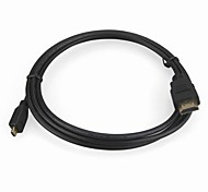 v1.3 HDMI macho a cable micro usb (1.5m, negro)