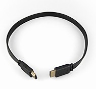 HDMI 1.4 Version Flat Cable for Samsung SONY Smart LED HDTV, APPLE TV , Blu-Ray DVD, PS2/3 and More (1.5 m, Black)