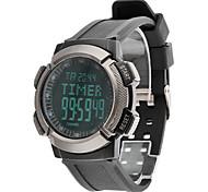 Masculino Assista Digital Relógio Esportivo LCD / Calendário / Cronógrafo / Impermeável / alarme Borracha Banda Relógio de Pulso