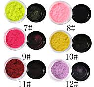 1PCS Velvet Nail Art Decorations No.7-12(8ml,Assorted Colors)