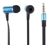 Fashion High Quality Metal Shell Noodle Line In-Ear Headphones (E100I Blue)