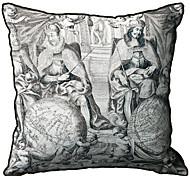 Personajes antiguos Imprimir Lino almohada cubierta decorativa