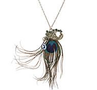 As penas do pavão Fully-jóias Colar Vintage