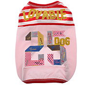 Lovely Sport Style Number 25 Pattern Vest for Dogs (Assorted Color,XS-XL)