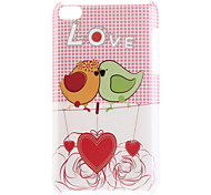 Love Birds Pattern Hard Case for iPod Touch 4