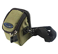Ripstop Polyester Padded Soft Protective Carrying Bag Case with Hooks for Slim Card Digital Camera - Army Green