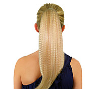 Top Grade Quality Synthetic Light Blonde Fluffy Long Ponytail