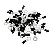 8.5mm Ring Terminal Connector - Black (50 PCS)