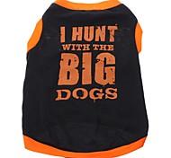 Perros Camiseta / Ropa / Ropa Negro Primavera/Otoño Letra y Número