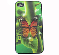 3D Effect Butterfly Pattern Hard Case for iPhone 4/4S