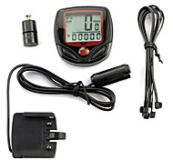 PVC Material Wireless 15 Functions Waterproof Cycling Computer YS-268A(Black)