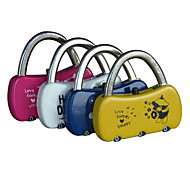 3-Digit Lovely Handbag Style Mini Resettable Combination Padlock(4 Colors) A00013