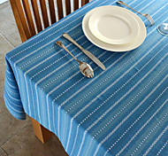 Stripe Pattern Cotton Table Cloth