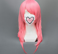Cosplay Wigs Kingdom Hearts Marluxia Pink Medium Anime/ Video Games Cosplay Wigs 65 CM Heat Resistant Fiber Male