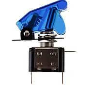 DIY LED bleu lumineux à bascule marche / arrêt pour la voiture (12V 20A)