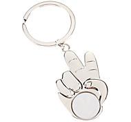 Metal Keychains with Scissor Hand Pendant